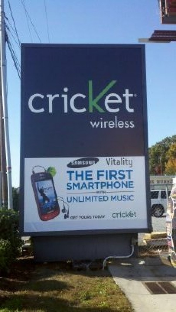 Cricket Wireless Sign