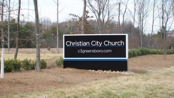 Modern Designed Church Sign