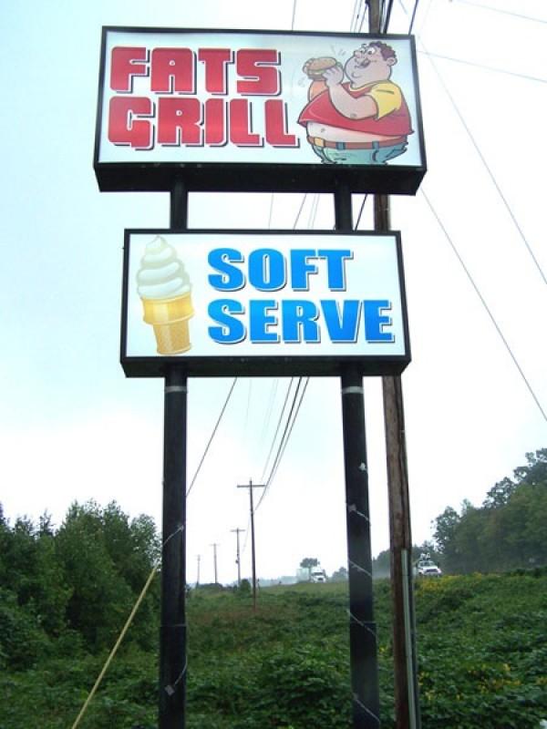 Large Restaurant Sign