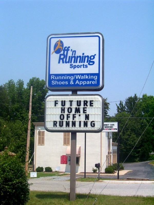 Business and Lettering Sign