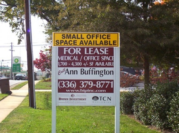 Office Space Available Sign