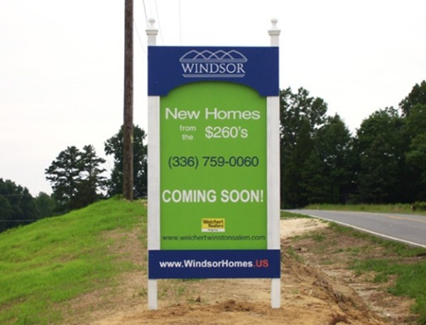 High-End Real Estate Sign