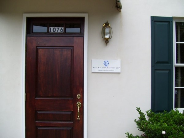 Small Sign Beside Business Door