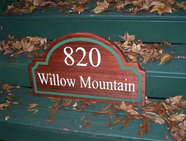 Custom Shaped Address Sign