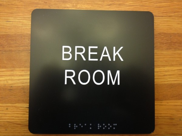 Break Room ADA Sign