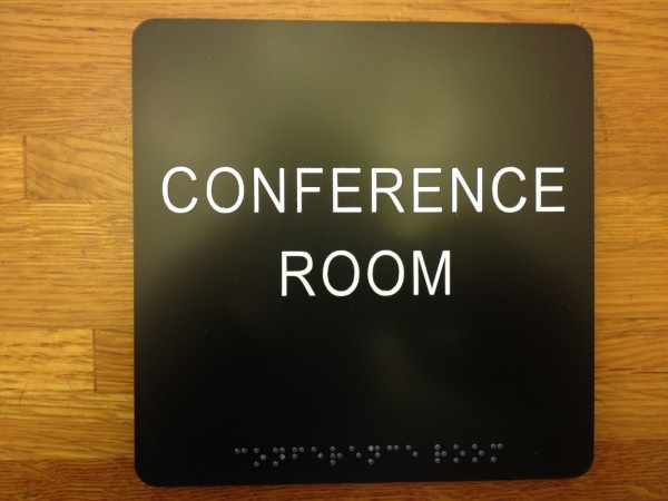 Conference Room ADA and Braille Sign