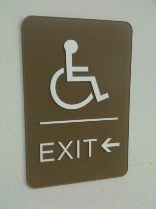 HCP Exit ADA and Braille Sign
